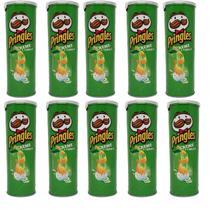 Batatas Pringles Creme com Cebola Original 121g - Kit com 10 Unidades -
