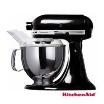 Batedeira KitchenAid Stand Mixer Preta com 10 Velocidades e 03 Batedores - KEA33 110V -