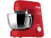 Batedeira Planetária Arno Vermelha Tigela Inox - 600W New Deluxe SX72 8 Velocidades