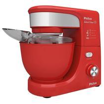 Batedeira Planetária Philco PHP500 Turbo, 12 Velocidades, 1 Tigela 500W, Vermelha -
