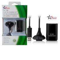Bateria 12000mah Recarregável + Cabo Carregador Para Controle Wireless de Xbox 360 FEIR FR-302 -