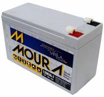 Bateria 12v 7a Moura Estacionária Vrla Nobreak Alarme Cerca -