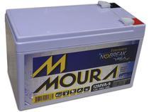 Bateria 12v 9ah selada Moura p/ Nobreak Cerca elétrica Alarme -