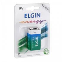 Bateria 9V Alcalina 6LR61 Elgin -