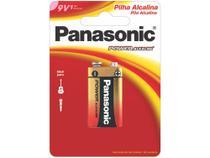 Bateria 9V Alcalina Panasonic Power Alkaline - 6LF22XAB/1B24 -