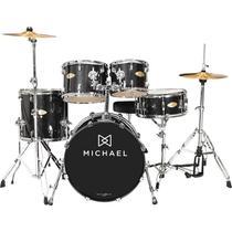 Bateria Acústica Michael Classic Pro Dm843 Bks Bumbo 22 -