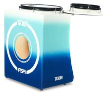 Bateria Cajón FSA Tajon Bass Plus TAJ74 Blue Fade Mini Bateria Cajón Compacta Ótima Sonoridade - Fsa Cajóns