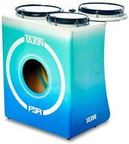 Bateria Cajón FSA Tajon Master Plus TAJ25 Blue Fade Mini Bateria Cajón Compacta Ótima Sonoridade - Fsa Cajóns