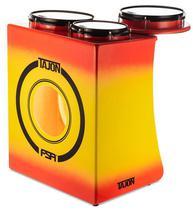 Bateria Cajón FSA Tajon Master Plus TAJ29 Yellow Red Mini Bateria Cajón Compacta Ótima Sonoridade - Fsa Cajóns