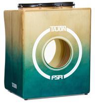 Bateria Cajón FSA Tajon Master TAJ21 Verde e Natural Mini Bateria Cajón Kit Compacto - Fsa Cajóns