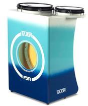 Bateria Cajón FSA Tajon Standard Plus TAJ85 Blue Fade Mini Bateria Cajón Compacta Ótima Sonoridade - Fsa Cajóns