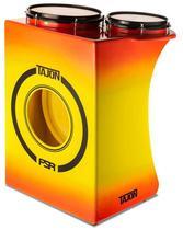 Bateria Cajón FSA Tajon Standard Plus TAJ89 Yellow Red Mini Bateria Cajón Compacta Ótima Sonoridade - Fsa Cajóns