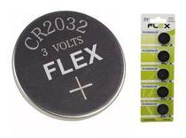 Bateria CR 2032 (3v) - 5 unidades - Flex