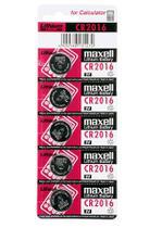 Bateria Cr2016 3v Maxell Cartela C/ 5 Unidades -