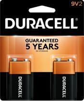 Bateria Duracell Alcalina c/ 2 Unidades 9v -
