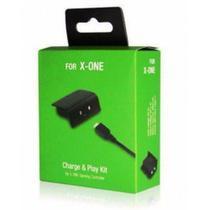 Bateria E Cabo Carregador Controle XBox One Charge Play Kit - Kanko