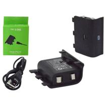 Bateria E Cabo Carregador Controle Xbox One Charge Play Kit - Knup