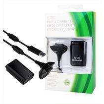 Bateria E Carregador Para Controle De Xbox 360 Preto - Microsoft