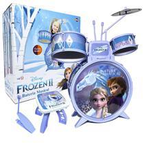 Bateria Infantil Brinquedo Disney Frozen 2 Menina 4 a 6 Anos - Toyng