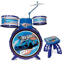 Bateria Infantil Hot Wheels Menino Instrumento Musical - Fun