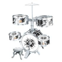 Bateria Infantil Rock Party Brinquedo Musical 67cm Altura - Dm Toys