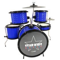 Bateria Infantil Star Kids 44000 Luen Nova Cor Azul -