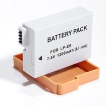 Bateria LP-E8 para câmera digital e filmadora Canon EOS Digital Rebel T2i, T3i, EOS digital SLR 550D, EOS KISS Digital x5 - para Canon