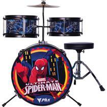 Bateria Marvel Infantil Spider Man Azul BIM S1 PHX. -