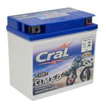 Bateria Moto 6A 12v Selada Cral Polo Positivo Direito -