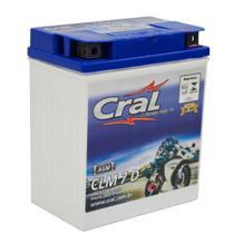 Bateria Moto 7A 12v Selada Cral Polo Positivo Direito -