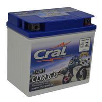 Bateria Moto CLM6D Cral 6ah Dafra Kansas Smart Super 100 ZIG Fym FY 100 10 A 150 18 -
