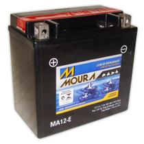 Bateria Moto Ma12-e Moura 12ah Suzuki LT-F500F Vinson Manual 4WD LT-A500F Yamaha APEX -