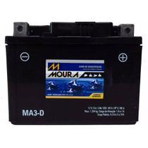 Bateria Moto MA3-D Moura 3Ah Suzuki DR250S DR350S DR650S N P Yamaha CY50 Riva JOG TTR 125E LE -