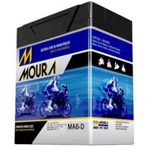 Bateria Moto MA6-D Moura 6ah Honda Biz Flex CB Nighthawk CB300F CB600F CBR300R CG -