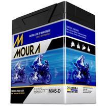 Bateria Moto MA6-D Moura 6ah Kawasaki KL250 Super Sherpa Sundown Future Hunter MAX SE SED -