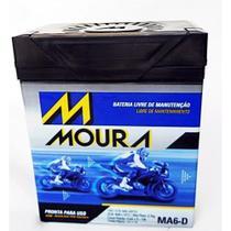 Bateria Moto Moura 6Ah Ma6-D Twister-Falcon-Cb300-Fazer 250 -