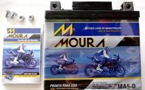 Bateria moto moura ma5-d 5ah 12v tinta fan factor -