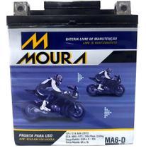 Bateria moto moura selada 6a cb 300 cbx twister 250 falcon 400 fazer tenere lander cbr 250 lead 0100 -