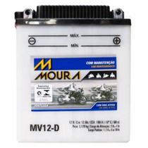 Bateria Moto Mv12-d Moura 12ah Triumph Speed Triple Tiger Yamaha Virago BMW GS -
