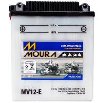 Bateria Moto Mv12-e Moura 12ah Honda CB DX CB350 Super Sport Four CB400 CB400A CB360 G T -