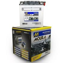 Bateria Moto Mv5-d Moura 5ah Honda NH 125 80MD Aero Suzuki DR650S GT250 Hustler -