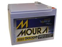 Bateria moura 12mva-12 estacionaria nobreak selada 12v 12ah -