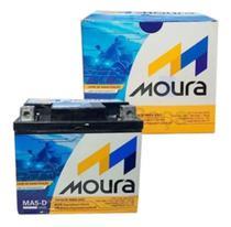Bateria Moura 5ah moto Honda Cg 125/150/160 Titan Biz Bros Fan Yamaha fazer Ybr -