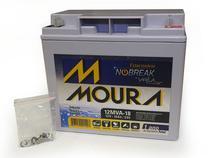 Bateria moura centrium energy 12mva-18 estacionaria nobreak 12v 18ah -