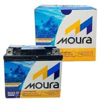 Bateria Moura MA5-D 5ah moto Honda Titan Bros Fan Biz Cg Yamaha fazer Ybr -