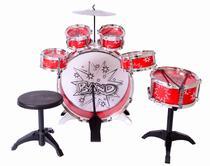 Bateria Musical Infantil Banco 6 Tambores 1 Prato Jazz Drum -