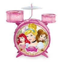 Bateria Musical Infantil Com Banquinho - Princesas Disney - Toyng