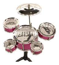 Bateria Musical Infantil Com Baqueta Brinquedo Menino Menina - Beetoys