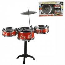 Bateria Musical Infantil First Band Com 3 Tambores Completa - Wellmix