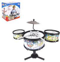 Bateria musical jazz drum meu ritmo na caixa wellkids - Wellmix